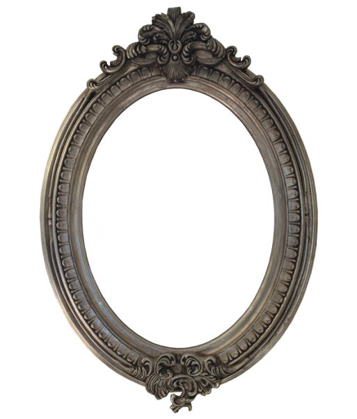 Oval Mirror In Antique Gold Or Silver